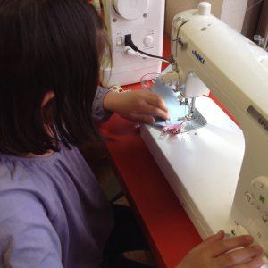 ミニトートバック縫製風景