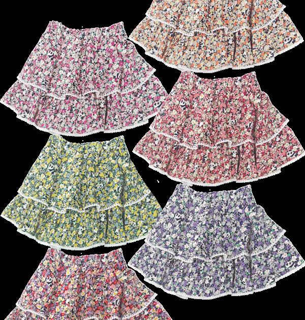 スペシャルデイスカート カモフラワーパンダ ボリューム2段スカート