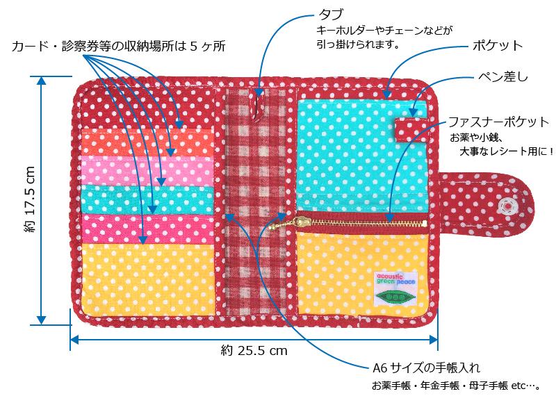 手帳&カードのマルチケース ☆ ポップスター仕様説明