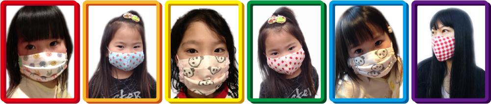 ふわふわWガーゼ立体マスク&タックマスク