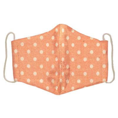 ふわふわWガーゼ立体マスク やさしいドット暖色系